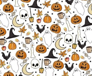 ghost, autumn, and Halloween image