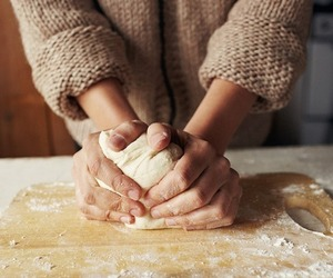 baking, hands, and dough image