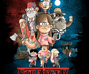 stranger things and gravity falls image