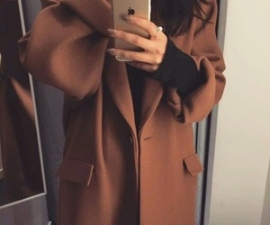 brown, style, and coat image
