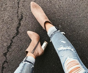 ankle boots, fashion, and metallic image