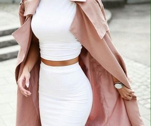 coat, fashion, and skirt image