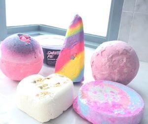 lush, bath, and pink image
