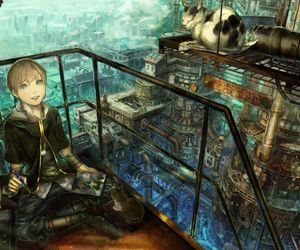 anime, cat, and steampunk image