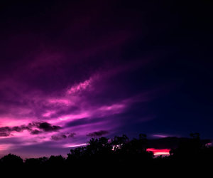 night, sky, and purple image