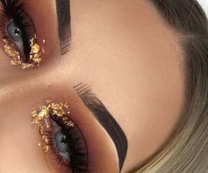 eye makeup, eyebrows, and fashion image
