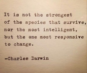 quotes, change, and charles darwin image