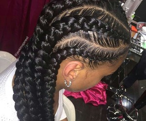 beautiful, braids, and coconutoil image