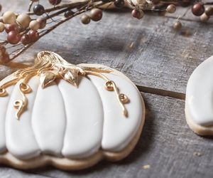 baking, Halloween, and iced cookies image