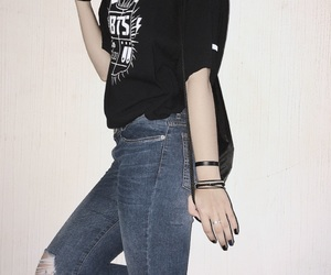 casual, black, and jeans image