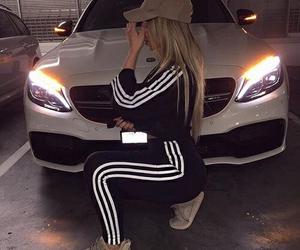 adidas, car, and black image