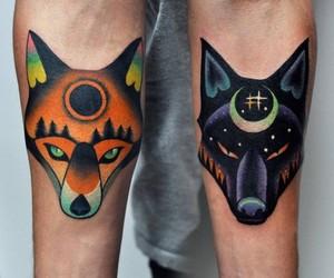 fox, tattoo, and art image