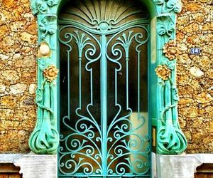 beautiful, colors, and door image