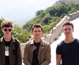 harry holland, tom holland, and harrison osterfield image