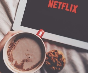 netflix, article, and coffee image