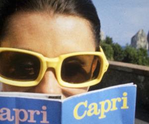 summer, capri, and reading image