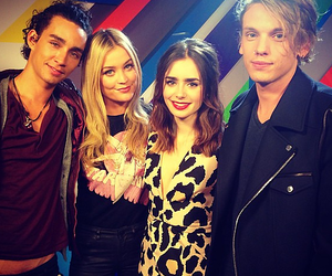 lily collins, robert sheehan, and jemima west image