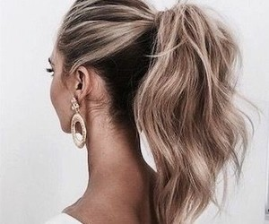 classy, pony tail, and hair style image
