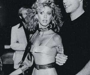 grease, John Travolta, and black and white image