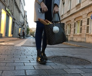 autumn, baguette, and chic image