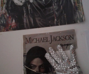fan, glove, and king of pop image
