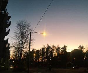 shaky, sky, and sunset image
