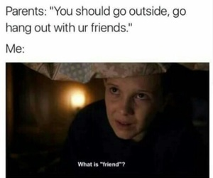 stranger things, eleven, and funny image