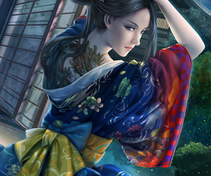 asian, colorful, and fantasy image