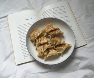 books, food, and pale image