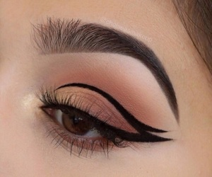 eye, eye makeup, and eyeliner image