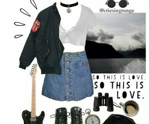 choker, bomber jacket, and coturno image