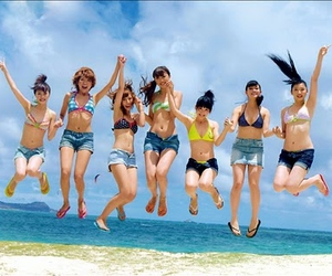beach, friends, and group image