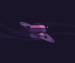 minimalist, purple, and saturn image