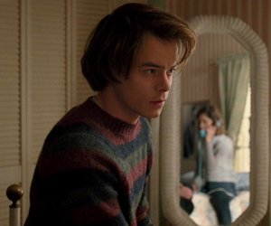 stranger things, jonathan byers, and eleven image