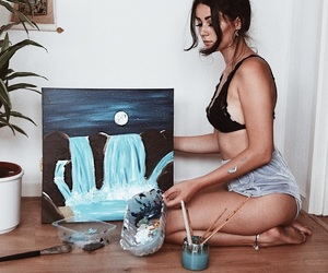 art, blue, and body image