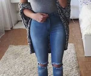 casual, jeans, and top image