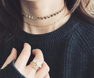 choker and gold image
