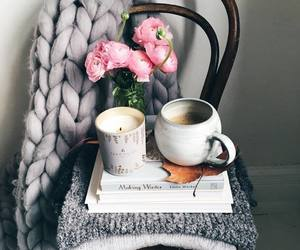 blanket, books, and candle image