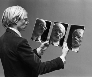 andy warhol and mirror image