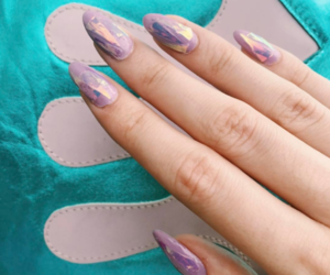 glass, lilac, and nail art image