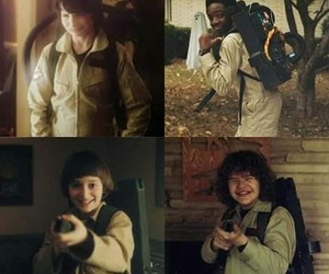 stranger things, dustin, and lucas image