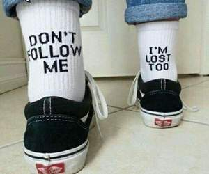 vans, lost, and socks image