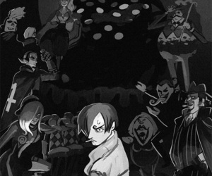 one piece, pudding, and sanji image