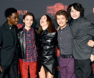 dustin, eleven, and mike image