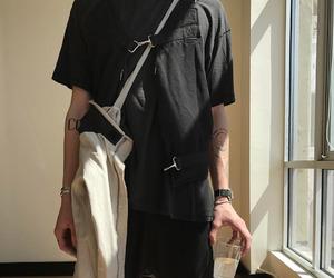 black, fanny pack, and fashion killa image