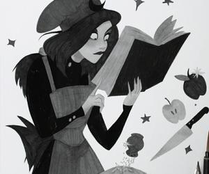 black, coven, and witch image