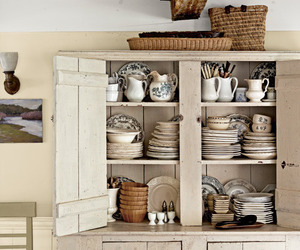 country living, home decor, and hutch image