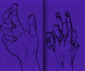 hands, purple, and outlines image