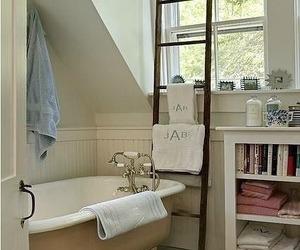 bathroom, home, and vintage image