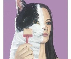 art, cat, and hybrid image